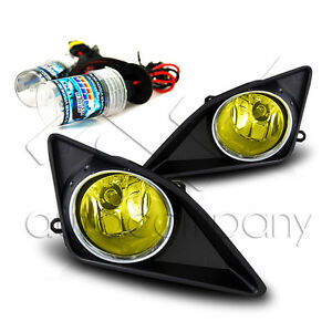 09 10 Corolla Fog Light Diving Lamps W Wiring Kit Hid Conversion Kit Yellow