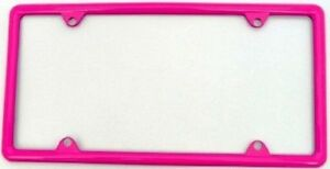 Hot Pink Metal Slimline License Plate Frame