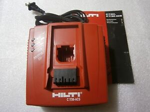 Hilti 7 36 Acs Battery Charger 110v 120v used 2016