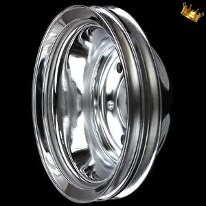 Chrome Small Block 2 Groove Crankshaft Pulley Fits Chevy 327 350 383 400 W Lwp
