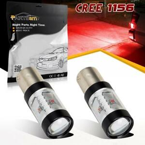 2x 1156 5007 7506 Red Led Brake Stop Tail Lights Bulbs Cree 30w Super Power