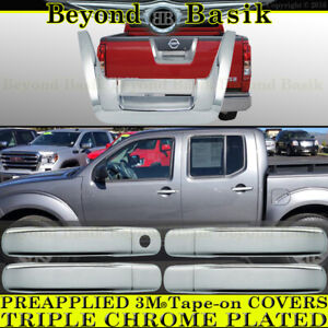 Fits 2005 2012 Nissan Frontier Chrome 4 Door Handle 1k Tailgate Covers Overlay