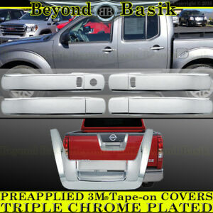 For 2005 2012 Nissan Frontier Chrome 4 Door Handle Covers W Smk Tailgate Overlay