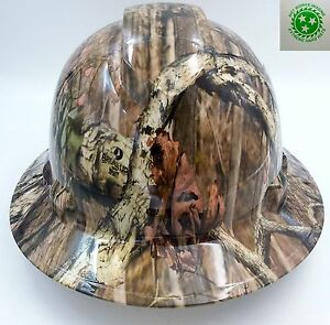 Hard Hat Full Brim Custom Hydro Dipped Osha Approved Break Up Infinity Camo