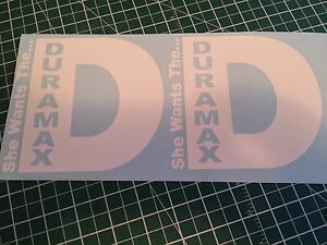 X2 She Wants The D Duramax 5 5x5 3 Decals Stickers Rolling Coal Rims Tires Light
