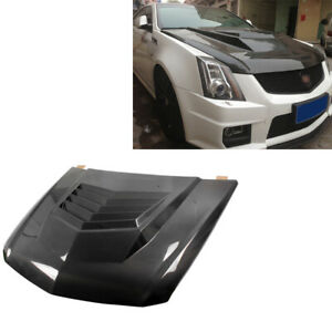 Engine Hood Bonnet Cover Body Kits For Cadillac Cts V Coupe 11 13 Carbon Fiber