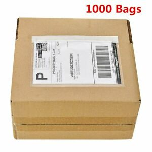 1000 7 5x5 5 Clear Packing List Shipping Label Envelopes Top Load Seft Adhesive