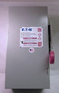 Eaton 30 Amp Heavy Duty Safety Switch Dh221ngk Unused