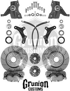 Chevy C10 1973 1987 Front Big Brake Kit Drilled 5x5 Mcgaughys 33157