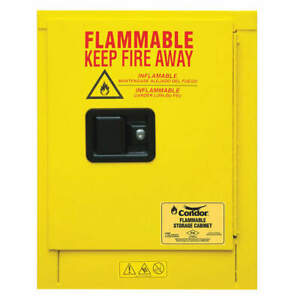 Condor Steel Flammable Liquid Safety Cabinet 4 Gal 45ae90 Yellow