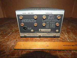 Lambda Electronics Lm 229 Dc Power Supply 30 60 Volts Tested working