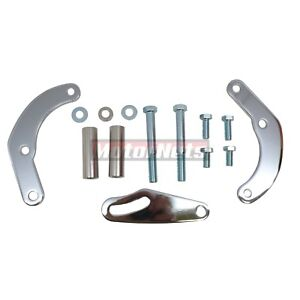 Chrome Bbc Swp Power Steering Pump Bracket Kit Saginaw Gm A Can Bb Chevy 396 454