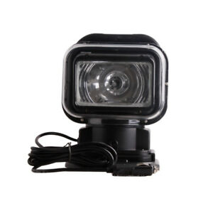 New 75w Magnetic Hid Spotlight 360 Lamp Searchlight Boat Car Wireless Remote