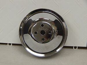 Original Chromed Gm Water Pump Pulley 3850680 1964 65 Corvette 327 With Ac