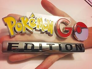 Pokemon Go Emblem Car Truck Logo Sign Not Game Account Chrome Decal Plus