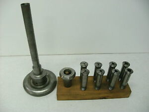South Bend Smithy Lathe Headstock 2a Collet Set With Nose piece And Drawbar
