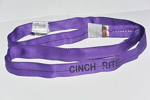 New 15ft Purple Polyester Endless Round Sling Crane Hoist Rigging Lift