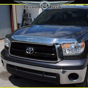 2007 2013 Toyota Tundra Chrome Bugshield Deflector Hood Guard Wraparound Design