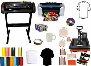Vinyl Cutter Plotter 8 In 1 Combo Heat Press printer refil pu Vinyl Startup Pack