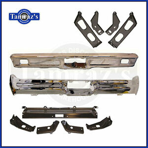 1964 Ford Galaxie Chrome Front Rear Bumper Bracket Set Brand New Tooling