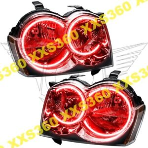 Oracle Halo Headlights Non Hid For Jeep Grand Cherokee 05 07 Red Led Angel Eyes