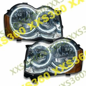 Oracle Halo Headlights Non Hid For Jeep Grand Cherokee 08 10 White Led Angel