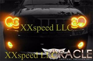 Oracle Halo Headlights Non Hid Style For Jeep Grand Cherokee 08 10 Amber Led