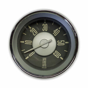 New Vw Type 3 Accessory Grey Face With White Needle Tachometer Isp West