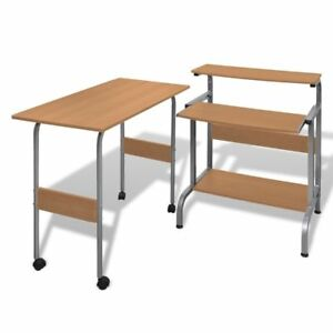 Desk Computer Table Home Office Furniture Workstation Laptop Student Study Brown