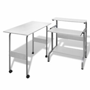 Desk Computer Table Home Office Furniture Workstation Laptop Student Study White