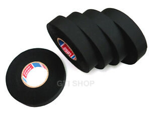 5 Roll Tesa 51025 19mm X 25m Adhesive Cloth Fabric Tape For Wiring Harnesses