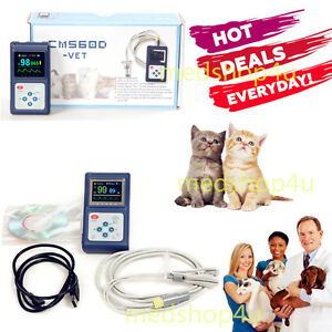 Veterinary Oled Pulse Monitor Spo2 Pulse Oximeter Software probe Vet animals Vet