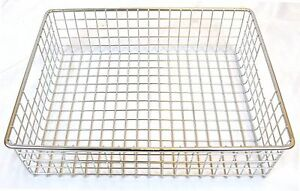 Stainless Steel Square Mesh Basket 14 X 11 X 4