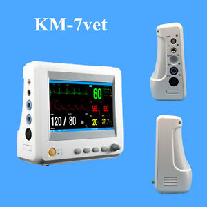 Km 7vet Small Veterinary Multi parameter Patient Monitor 7 Animal Accessories