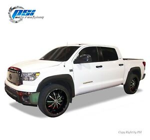 Black Textured Oe Style Fender Flares Toyota Tundra 07 13 Fits W Factory Flaps