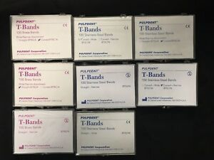 3 X Dental T band Stainless Steel Bands Straight Wide 100 pkg btss w