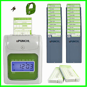 Electronic Time Clock Bundle Timecard Employee Payroll Business Work Punch Card