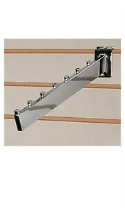 New Chrome Dimensional Waterfall Slatwall Faceout 7 Cube Tube