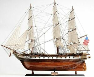 Uss Constellation Frigate Tall Ship 38 Built Wooden Model Sailboat Assembled