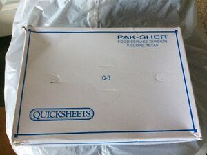 Pak sher Quicksheets Interfolded Q 8 Food Wrap Papers 5000 Sheets 8 X 10 3 4