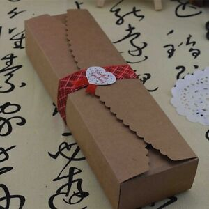 23x7x4cm Kraft Paper Large Saw Tooth Gift Box For Wedding Favor Packing Boxes