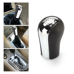 Gear Stick 6 Speed Mt Aluminum Leather Shift Knob Shifter For Toyota Manual New