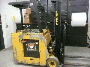 1993 Hyster Electric Three Wheel Stand Up Forklift E40cr 4000 Lbs Capacity Newe