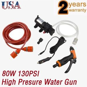 12v Portable 80w 130psi High Pressure Car Electric Washer Wash Pump us Stock