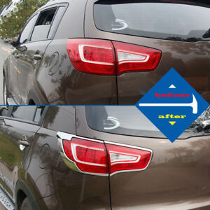 Abs Chrome Rear Tail Lamp Cover Molding For Kia Sportage R 2012 2016