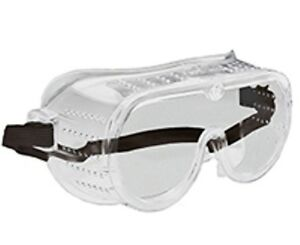 6 Pack New Eye Protection Protective Lab Clear Goggles Glasses Vented Safety Usa
