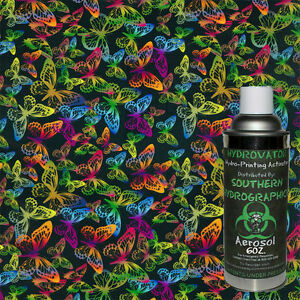Hydrographic Film Water Transfer Hydro Dip 6oz Activator Butterflies Kit