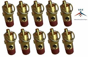 10 Pcs 1 4 Npt 125 Psi Air Compressor Safety Relief Pressure Valve Tank Pop Off