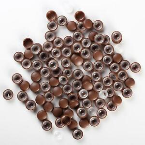 Brown smooth License Plate Frame Camouflage Screw Caps Bolt Covers 100pcs