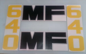 Massey Ferguson 640 Loader Decals